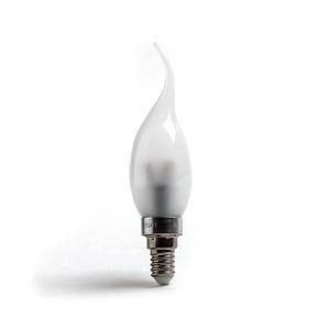 E14 LED Tipkaars, 3Watt Dim wit glas, 2700