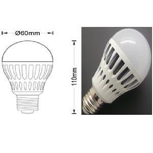 E27 G60, 6.5Watt LED Lamp 2700K-3000K, Vervangt 60Watt Gloeilamp