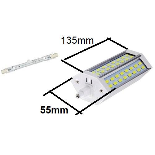 J135mm halogeen buislamp vervangen door R7S135mm led lamp, maat