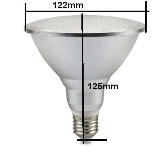 LED PAR38, E27 Lamp 18W groen ip65 waterproof