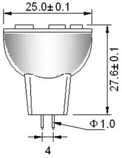 MR8 led lamp DC12Volt led lampje laagspanning