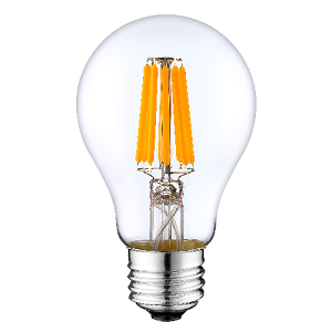 ODF 12volt 24volt LED Lamp E27 lampfitting, G60 Filament led Dimmable 6watt clear glass 2700Kelvin warm light