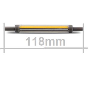 r7s 118mm LED Buislamp 5500Kelvin Daglicht led verlichting, dimmen, dimbare r7s buislamp
