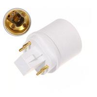 GX24 4 pins lampadapter naar E27, plaats je een E27 LED Lamp in een GX24 4 pin lampfitting